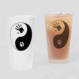 Cat Therian Ying Yang Drinking Glass