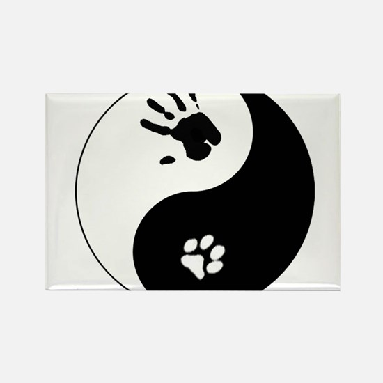 Cat Therian Ying Yang Rectangle Magnet