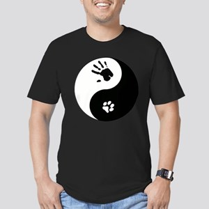 Cat Therian Ying Yang Men's Fitted T-Shirt (dark)