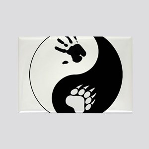 Bear Therian Ying Yang Rectangle Magnet