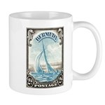 1938 Bermuda Yacht Postage Stamp Mug