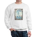 1938 Bermuda Yacht Postage Stamp Sweatshirt