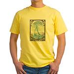 1938 Bermuda Yacht Postage Stamp Yellow T-Shirt