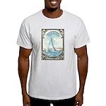 1938 Bermuda Yacht Postage Stamp Light T-Shirt