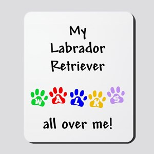 Labrador Retriever Walks Mousepad