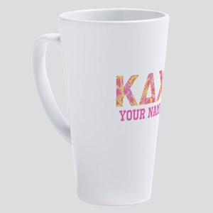 Kappa Delta Chi Letters 17 oz Latte Mug