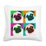 Pop Art Pug Square Canvas Pillow