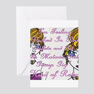 Pink Taffeta Retro Greeting Cards (Pk of 10)