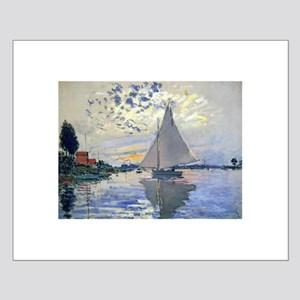Claude Monet Sailboat Small Poster