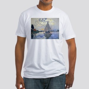 Claude Monet Sailboat Fitted T-Shirt