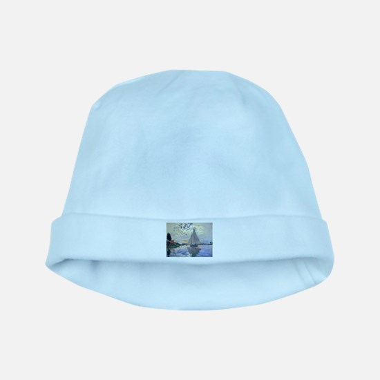Claude Monet Sailboat baby hat