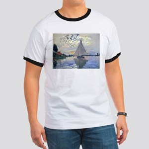 Claude Monet Sailboat Ringer T