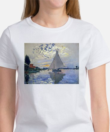Claude Monet Sailboat Women's T-Shirt