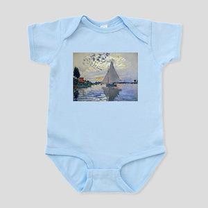 Claude Monet Sailboat Infant Bodysuit