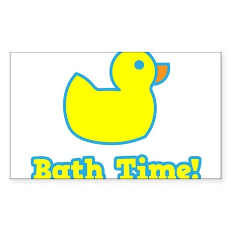 It's Bath Time for baby! Sticker (Rectangle)