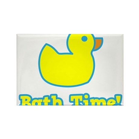 It's Bath Time for baby! Rectangle Magnet