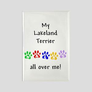 Lakeland Terrier Walks Rectangle Magnet