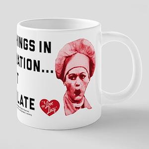 I Love Lucy Moderation Choc 20 oz Ceramic Mega Mug