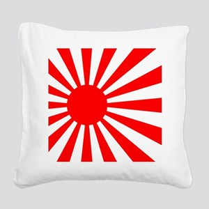 JAPANESE RISING SUN FLAG Square Canvas Pillow