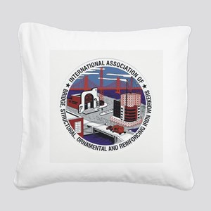 Ironworker Patch Square Canvas Pillow