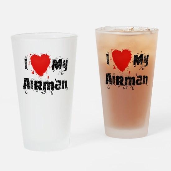 I <3 My Airman Drinking Glass