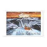 A Crab @ Thor's Well, Oregon Mini Poster Print