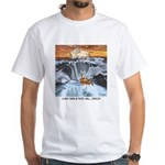 A Crab @ Thor's Well, Oregon White T-Shirt
