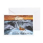 A Crab @ Thor's Well, Oregon Greeting Cards (Pk of