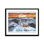 A Crab @ Thor's Well, Oregon Framed Panel Print