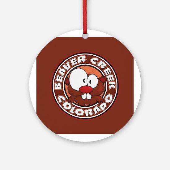 Beaver Creek Circle Ornament (Round)