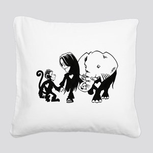 Gillian and Friends Square Canvas Pillow