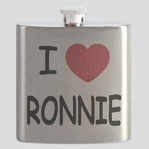 I heart RONNIE Flask