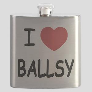 I heart BALLSY Flask