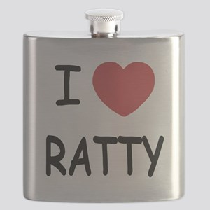 I heart RATTY Flask