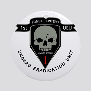 1st Zombie Hunters Ornament (Round)