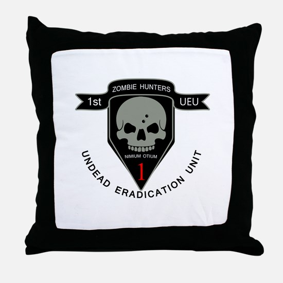 1st Zombie Hunters Throw Pillow