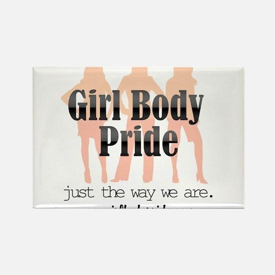 Girl Body Pride URL logo Rectangle Magnet