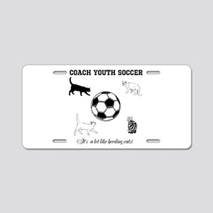 Coach Youth Soccer Cats Aluminum License Plate