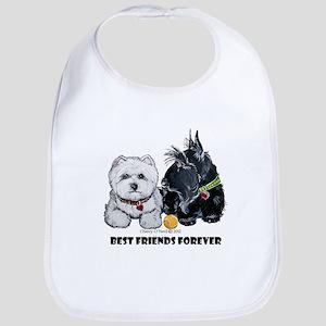 Scottie & Westie Best Friends Bib