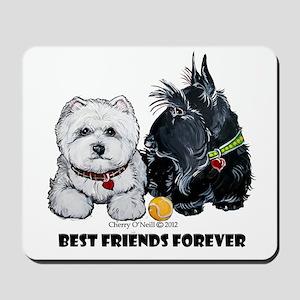 Scottie & Westie Best Friends Mousepad