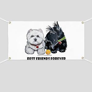 Scottie & Westie Best Friends Banner
