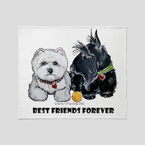 Scottie & Westie Best Friends Throw Blanket