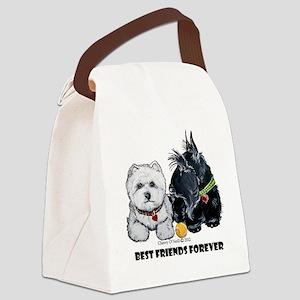 Scottie & Westie Best Friends Canvas Lunch Bag