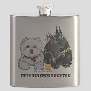 Scottie & Westie Best Friends Flask
