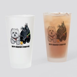 Scottie & Westie Best Friends Drinking Glass