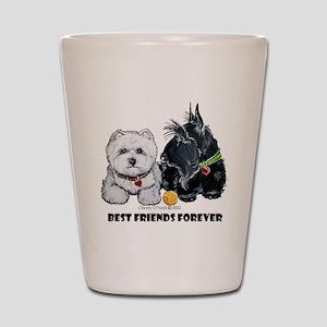 Scottie & Westie Best Friends Shot Glass