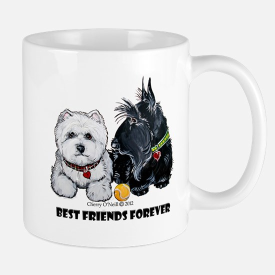 Scottie & Westie Best Friends Mug