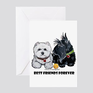Scottie & Westie Best Friends Greeting Card