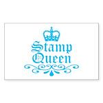 stamp_queen_blue Sticker (Rectangle 50 pk)