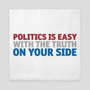 Politics is Easy Queen Duvet